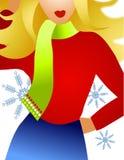 Winter Fashion Model Blonde stock illustration