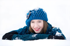 Winter fashion portrait Royalty Free Stock Images