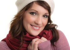 Winter Fashion Portrait Stock Image