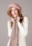 Winter fashion. Royalty Free Stock Photography