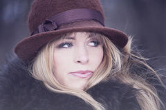 Winter fashion portrait Stock Photography
