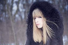 Winter fashion portrait Royalty Free Stock Image