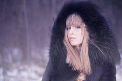 Winter fashion portrait Stock Image