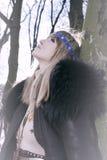 Winter fashion portrait Stock Photos