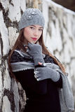 Winter fashion portrait Royalty Free Stock Photos