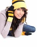 Winter Fashion portrait of woman Stock Photo
