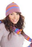 Winter Fashion portrait of sexy woman Stock Photos