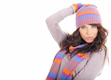 Winter Fashion portrait of sexy woman Royalty Free Stock Photos