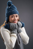 Winter fashion Stock Photo