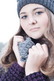 Winter fashion portrait Stock Photo