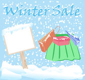 Winter Fashion Sale Stickers Stock Photos