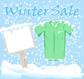 Winter Fashion Sale Stickers Stock Photography