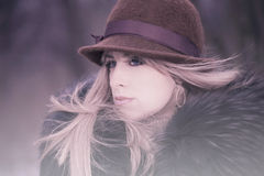 Winter fashion Stock Photography