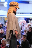 Winter fashion show on the catwalk Royalty Free Stock Photo