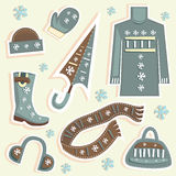 winter fashion vector Royalty Free Stock Photos