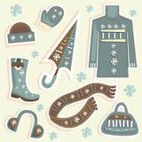 Winter fashion vector Royalty Free Stock Photos
