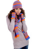 Winter fashion woman Royalty Free Stock Image