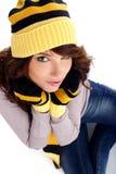 Winter fashion woman Stock Photography