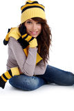 Winter fashion woman Stock Photos