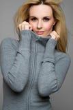 Winter Fashion Woman. Beautiful blond winter fashion woman stock photography