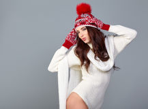 Winter fashion woman Stock Image