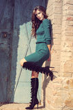 Winter fashion woman Stock Image