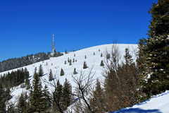 Winter on the Feldberg in the Black Forest. Winter on the Feldberg which is the highest mountain in the Black Forest Stock Photo