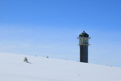 Winter on the Feldberg in the Black Forest. Winter on the Feldberg which is the highest mountain in the Black Forest Royalty Free Stock Photos