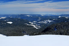 Winter on the Feldberg in the Black Forest. Winter on the Feldberg which is the highest mountain in the Black Forest Stock Images