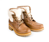 Winter female boot Stock Images