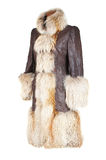 Winter female coat royalty free stock images