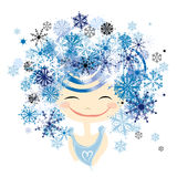 Winter female portrait for your design Royalty Free Stock Photos