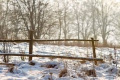Winter fence Royalty Free Stock Photos