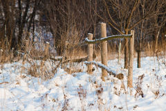 Winter fence Royalty Free Stock Photo