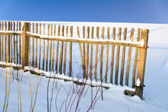 Winter fence Stock Images