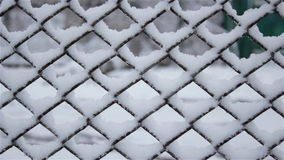 Winter fence in the snow stock video footage