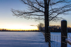 Winter Fence. Winter time snow in Canada Stock Photography