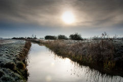 Winter on the fens Royalty Free Stock Image