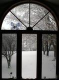 Winter-Fenster Stockbild