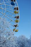 Winter ferris wheel Stock Images