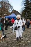 The winter-festival Angel in the country town. Royalty Free Stock Images