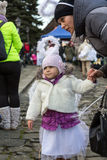 The winter-festival Angel in the country town. Royalty Free Stock Photo