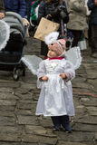 The winter-festival Angel in the country town. Royalty Free Stock Image