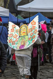 The winter-festival Angel in the country town. Stock Image