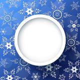 Winter festive background blue with snowflakes Royalty Free Stock Photos