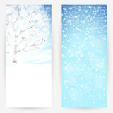 Winter festive backgrounds. Set of winter festive backgrounds in blue-white colours Royalty Free Stock Photos