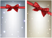 Winter festive backgrounds set Royalty Free Stock Photography