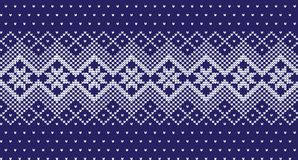 Winter festive Christmas knitted pattern woolen knitted. 2018 Royalty Free Stock Images