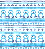 Winter festive Christmas knitted pattern woolen knitted.  Royalty Free Stock Photography