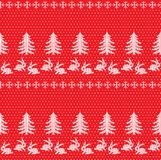 Winter festive Christmas knitted pattern woolen knitted Stock Photography
